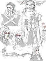 League of Legends sketchdump 1 by CloodSama