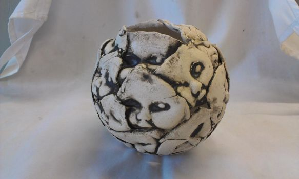 Baby face sphere by Tattyhead