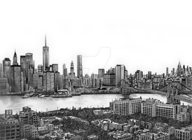 New York Skyline by MiikeDV