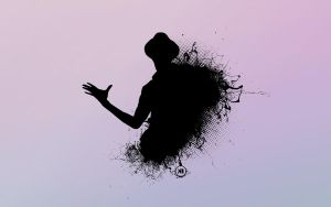 Splatter Silhouette by korean-neighbour