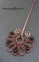 hairpin with garnet by nastya-iv83