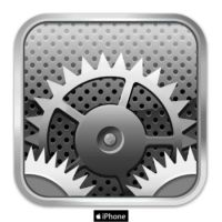 iphone settings icon by elvitines