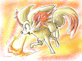 fennekin by Peegeray
