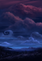 Night Sky by bramLeech