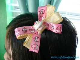 Cupcake Sprinkles Bow by SugiAi