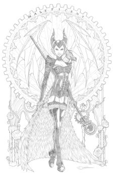 Steampunk Maleficent Redux by sorah-suhng