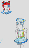 ADOPTABLE - Confectionist Azure by Llama-lady