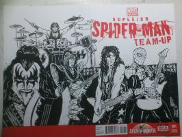 superior spiderman team up Kiss by natelyon