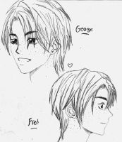 Fred and George by 1narutouzumaki1