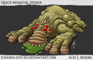 Quick Monster: Spewer by Canada-Guy-Eh
