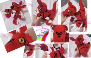 GUILMON PLUSH by chocoloverx3