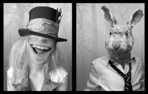 Hatter and hare by Germfil