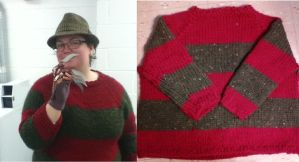 Freddy Krueger Sweater by Creativity-Squared