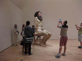 Ron Mueck exhibition 2 by karincharlotte