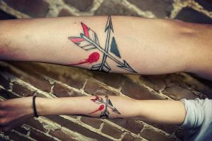 arrow tattoo by foxxmax