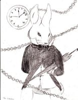 The white Rabbit by CircuitsandWires