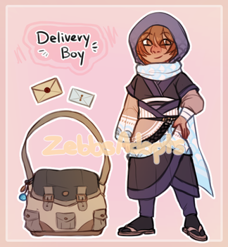 Delivery Boy Auction [closed] by ZebbsAdopts