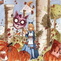 Alice in Wonderland by faaly