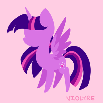 Minimalist Chibi Twilight Sparkle by Violyre