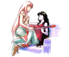 Bubbline digital watercolor by Afterlaughs