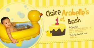 rubber ducky invitation by andickhart