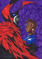 Spawn and Wanda by ChahlesXavier