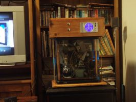 Steampunk Style Immersion PC by SpamDragon
