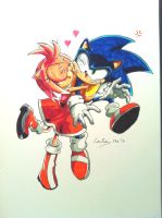 Sonic X Archie #16 Cover Image Redrawn by connieiscrazy