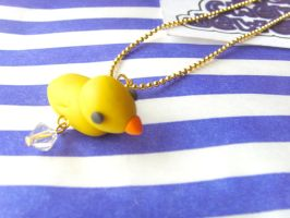 Yellow Duck Necklace by tyney123