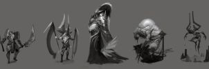 Character sketches by Robotpencil