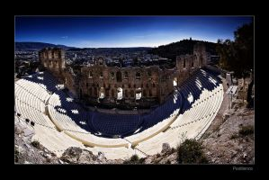 The Odeion of Herodes Atticus by pestilence