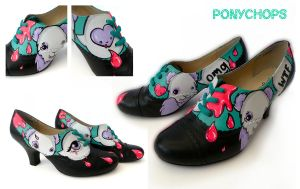OMG WTF Panda Shoes by ponychops