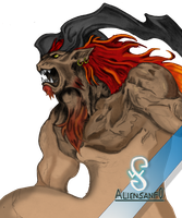 Ifrit FFVIII Color PNG - Aliensanfo by aliensanfo