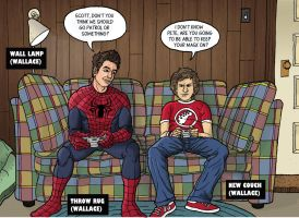 Peter Parker and Scott Pilgrim by Mathieugeekboy
