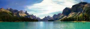 Spirit Island Pano 2 by KRHPhotography