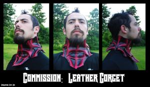 Commission:  Leather Gorget by Epic-Leather