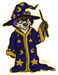 Rawr! I am Sascha Jeretik, mighty Wizard by Ghostbear2k