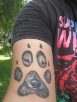 Wolf Tattoo by foxfanforever