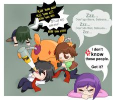 Gundam 00: Meisters and Haro by zaft-sobacheki