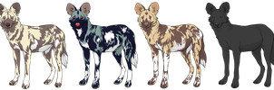 African Wild Dog Adopts by deadonarrival