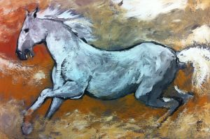Cavallo Bianco by andreuccettiart
