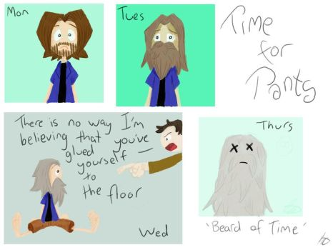 Beard of Time - Time for Pants by PaulBlues