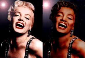 Black Marilyn Monroe by Takes2Hands2