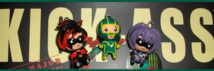 Chibi-Charms: Kick-Ass by MandyPandaa