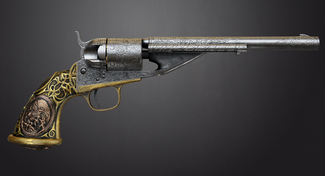 Colt 1861 Navy Conversion by romal-r