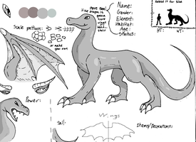 Dragon Ref template by MistrissTheHedgehog