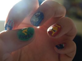 Avengers Nails by gee231205