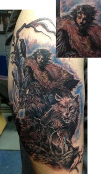 Jon Snow game of thrones tattoo by ShannonRitchie