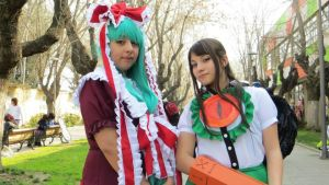 Touhou project: okuu and hina in Anime deluxe 2013 by sumomin