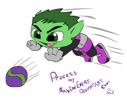 Beast Boy Process by RavenEvert